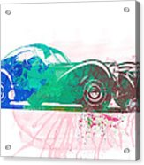 Bugatti Atlantic Watercolor 1 Acrylic Print