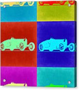 Bugatti Type 35 R Pop Art 2 Acrylic Print by Naxart Studio