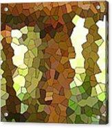 Bugs Eye View Of Garden Table Leg Acrylic Print