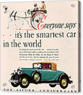 Buick 1928 1920s Usa Cc Cars Horses Acrylic Print by The Advertising Archives