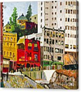Building A City By Stan Bialick Acrylic Print