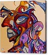 Building A Face Acrylic Print