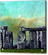 Building A Mystery 2 - Stonehenge Art By Sharon Cummings Acrylic Print