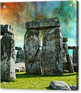 Building A Mystery - Stonehenge Art By Sharon Cummings Acrylic Print