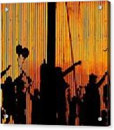 Building Silhouettes In Color Acrylic Print