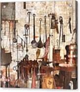Building Trades - Hand Tools In Machine Shop Acrylic Print