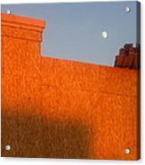 Building Under Construction Moon Rising Casa Grande Arizona 2004 Acrylic Print
