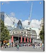 Building Work In The City Of London Acrylic Print