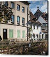 Buildings Along Canal, Altstadt Acrylic Print