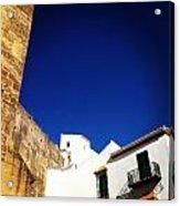 Buildings And Blue Sky Acrylic Print