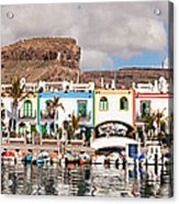 Buildings At The Waterfront, Puerto De Acrylic Print