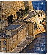 Buildings By The Mediterranean Sea Acrylic Print