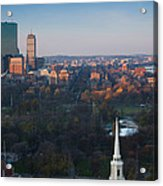 Buildings In A City, Boston Common Acrylic Print