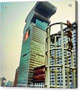 Buildings In Shanghai Acrylic Print