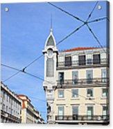 Buildings In The Chiado Neighbourhood Of Lisbon Acrylic Print