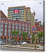 Buildings Near War Memoriall In Ottawa-on Acrylic Print