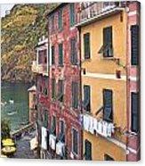 Buildings Of Vernazza Acrylic Print