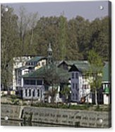 Buildings On The Shore Of Section Of Dal Lake In Srinagar Acrylic Print