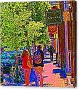 Buk And Nola Gift Shop Decor Boutique Rue Laurier Art Of Montreal Street Scene Carole Spandau Acrylic Print