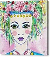 Bulgarian Follk Girl Art Acrylic Print