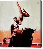 Bull Dancers Acrylic Print