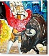 Bull Fighter Acrylic Print