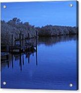 Bull Frog Creek II Gibsonton Fl Usa Near Infrared Acrylic Print