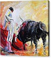 Bull In Yellow Light Acrylic Print