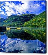 Bull Lake In Fall Acrylic Print