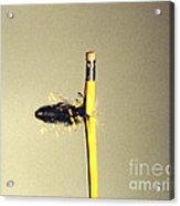 Bullet Piercing Pencil Acrylic Print by Gary S. Settles