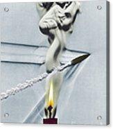 Bullet Shot Through Candle Flame Acrylic Print