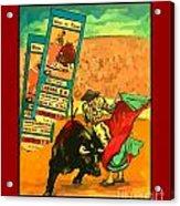 Bullfight Poster Acrylic Print