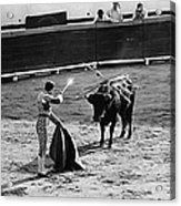 Bullfighter And The Lady Homage 1951 Bullfight Nogales Sonora Mexico Acrylic Print
