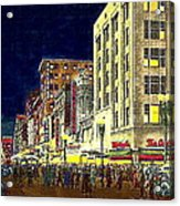 Bullock's Department Store On Broadway In Downtown Los Angeles Ca Around 1940 Acrylic Print