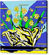 Bumble Bee Vase Acrylic Print by Lewanda Laboy