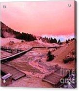 Bumpass Hell Sunset Acrylic Print