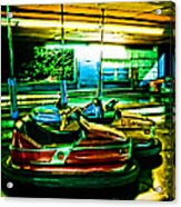 Bumper Cars Acrylic Print by Colleen Kammerer