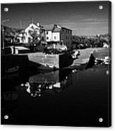 bunbeg house guesthouse in bunbeg harbour and clady river gweedore bay county Donegal Republic of Ireland Acrylic Print