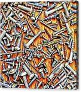 Bunch Of Screws 1- Digital Effect Acrylic Print