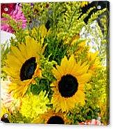 Bunch Of Sunflowers Acrylic Print