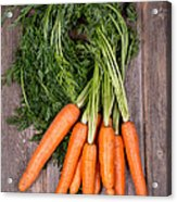 Bunched Carrots Acrylic Print by Jane Rix