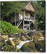 Bungalow In Koh Rong Island Beach In Cambodia Acrylic Print
