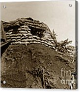 Bunker Above The Dak Poko River Near Dak To Kontum Province Vietnam 1968 Acrylic Print