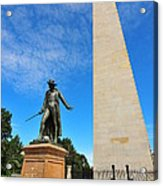 Bunker Hill Monument Acrylic Print by Catherine Reusch Daley