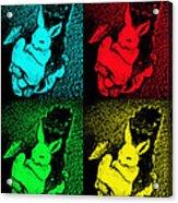 Bunny Pop Art Acrylic Print