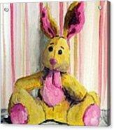 Bunny With Pink Ears Acrylic Print