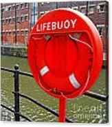 Buoy Foam Lifesaving Ring Acrylic Print by Luis Alvarenga