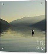 Buoy On An Alpine Lake Acrylic Print