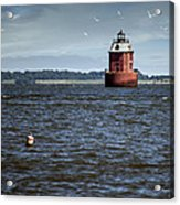 Buoy What A Lighthouse Acrylic Print