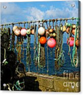Buoys And Pots In Sennen Cove Acrylic Print